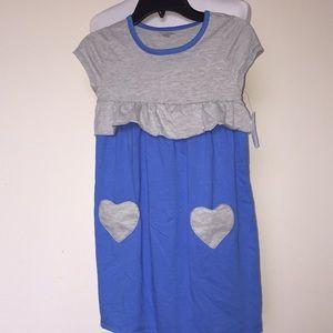 July Girls Novelty Pocket Dress Palace Blue